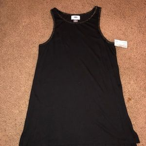 Black Athletic Tank W/ Sparkly Gold Outline